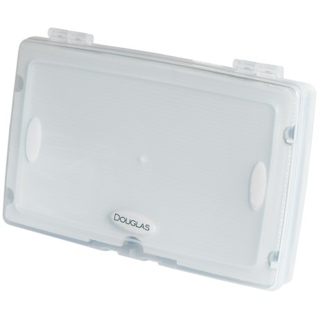 """Douglas Outdoors Fly Box with Slotted and Micro-Slit Foam Tray - 9.64x6.48"""""""