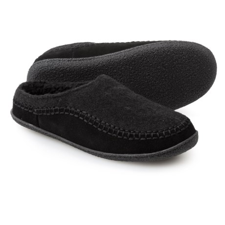 Clarks Fleece and Suede Clog Slippers (For Men)