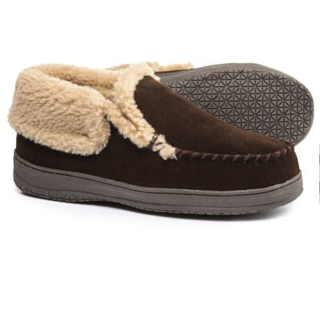 Clarks Suede Moc Slippers - Fleece Lined (For Men)