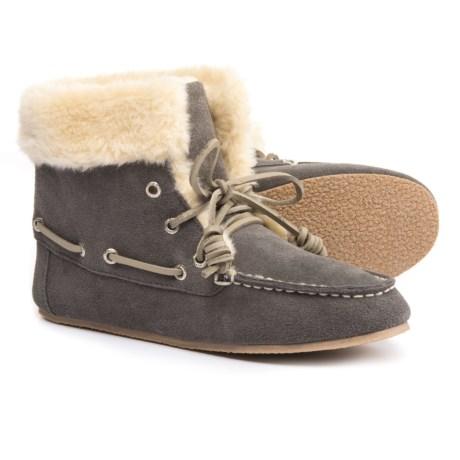 Clarks Lace-Up Bootie Slippers - Suede (For Women)