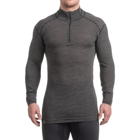 Ibex Woolies 1 Base Layer Zip Turtleneck - Merino Wool, Long Sleeve (For Men)