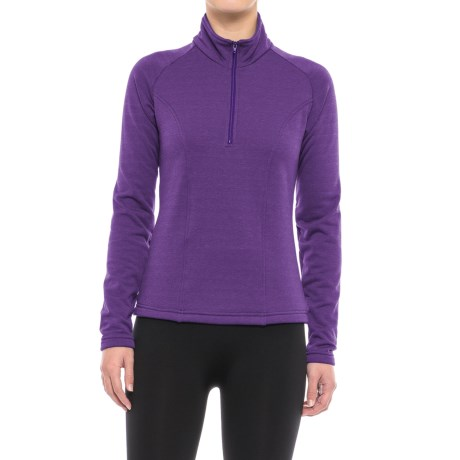 Kenyon Polartec® Power Stretch® Base Layer Top - Zip Neck, Long Sleeve (For Women)