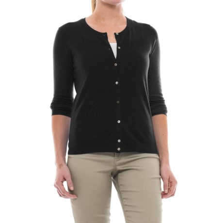 In Cashmere Classic Button-Up Cardigan Sweater - Cashmere (For Women)