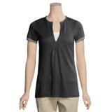 Lauren Hansen Linen-Rich Tunic Shirt - Split Neck, Short Sleeve (For Women)