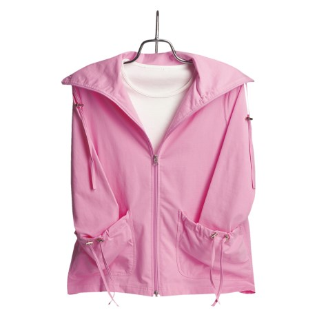 Neon Buddha Cotton Swing Jacket - Inverted Back Pleat (For Women)