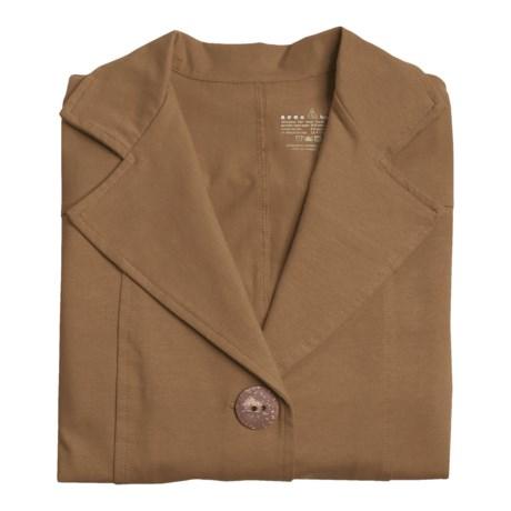Neon Buddha Safari Jacket - Cotton Jersey, 3/4 Sleeve (For Women)