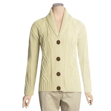 J.G. Glover & CO. Peregrine by J.G. Glover Merino Wool Cardigan Sweater- Shawl Collar (For Women)