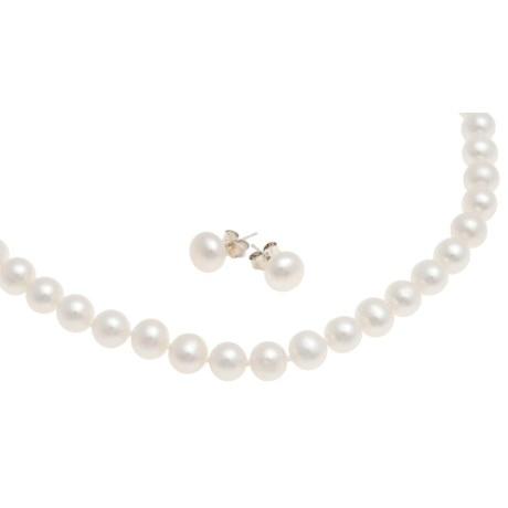 Jokara Freshwater Pearl Necklace and Earrings Set