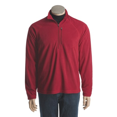 White Sierra Pinnacle Microfleece Shirt - Zip Neck, Long Sleeve (For Men)