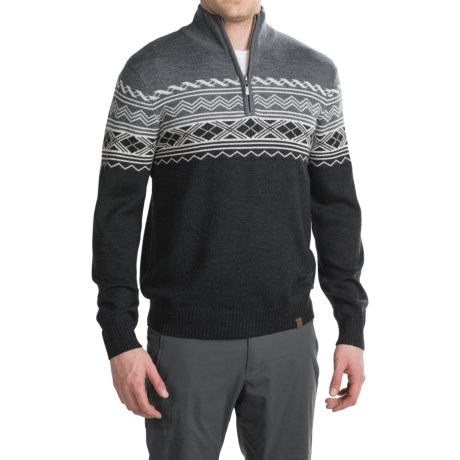 Neve Lars Ski Sweater - Zip Neck, Merino Wool (For Men)