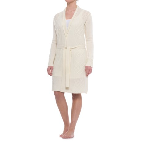 Tahari Cable-Knit Cashmere Robe - Long Sleeve (For Women)