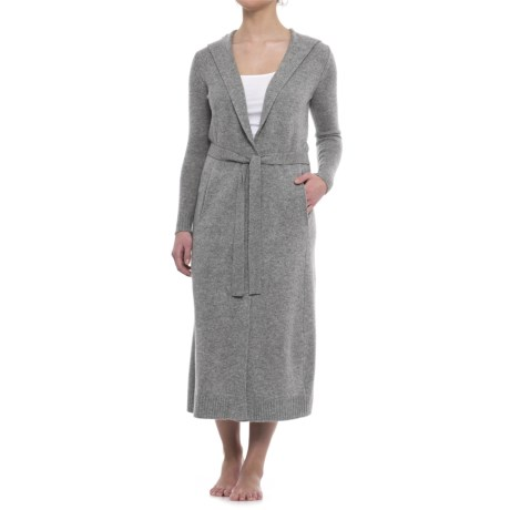 Cynthia Rowley Cashmere Hooded Robe - Long Sleeve (For Women)