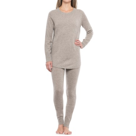 Tahari Cashmere Textured Tunic Sweater and Leggings Lounge Set (For Women)