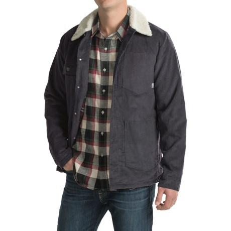 Poler Corduroy Sherpa-Collar Jacket - Flannel Lined (For Men)
