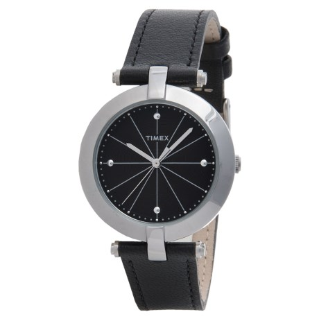 Timex Greenwich Classic Metal Watch - Leather Strap (For Women)