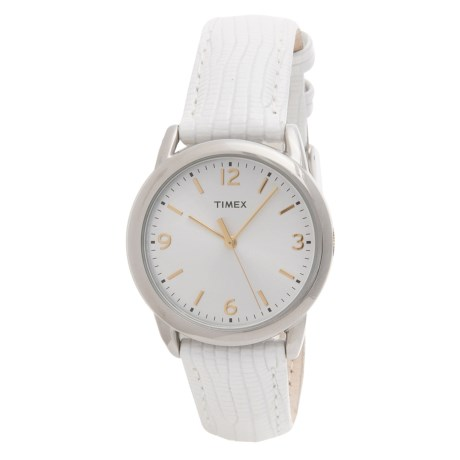 Timex Style Elevated Watch - Leather Strap (For Women)