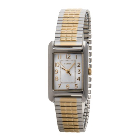 Timex Style Classic Elevated Watch - Stainless Steel Bracelet (For Women)