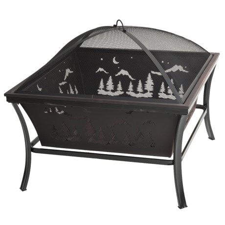 """Pomegranate Solutions Woodland Steel Fire Pit - 29x29"""""""
