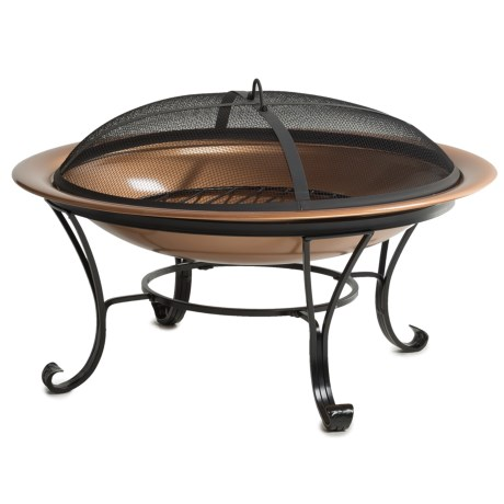Pomegranate Solutions Copper Fire Pit with Screen - 29""