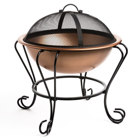 """Pomegranate Solutions Copper-Plated Fire Pit and Beverage Tub - 18"""""""