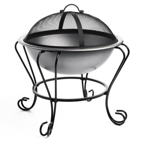 Pomegranate Solutions Stainless Steel Fire Pit and Beverage Tub - 18""