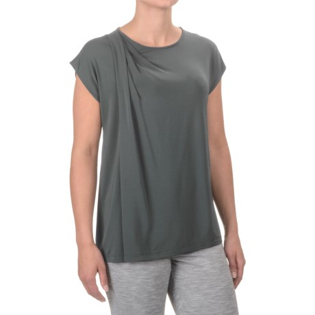Specially made Asymmetrical Draped Shirt - Short Sleeve (For Women)