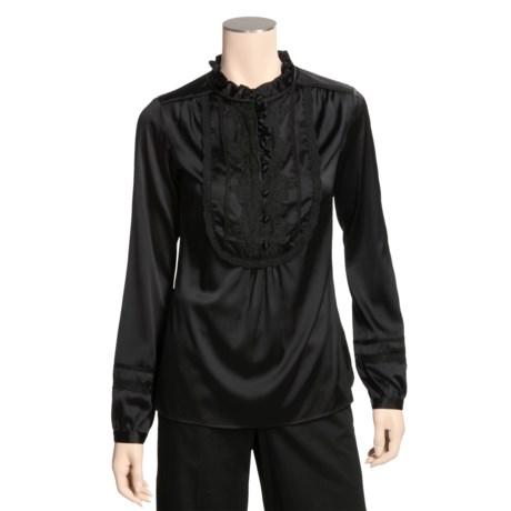 Bogner Stretch Gaetana Shirt - Silk-Satin, Long Sleeve (For Women)