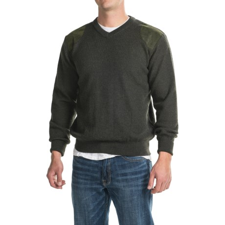 Barbour Sporting V-Neck Sweater - Merino Wool (For Men)