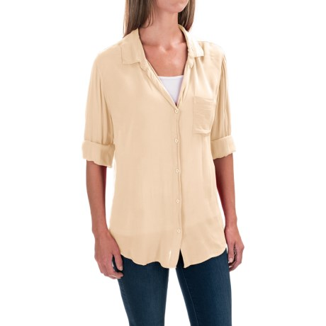 dylan Soft Classic Shirt - Rayon, Long Sleeve (For Women)