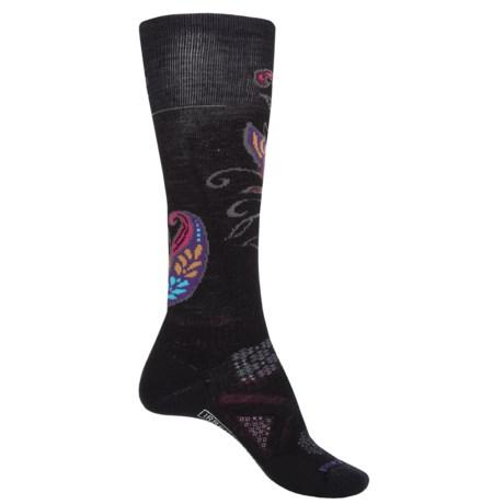 SmartWool PhD Patterned Ski Socks - Merino Wool, Over the Calf (For Women)