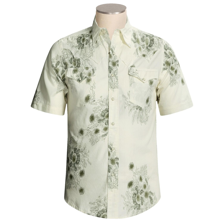 Roper Floral Print Western Shirt For Men 2426u Save 43