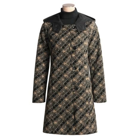 Chokolat Reversible Faux-Wool Coat - Hooded (For Women)