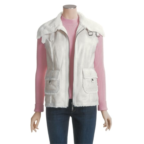 MontanaCo Faux-Shearling Vest (For Women)