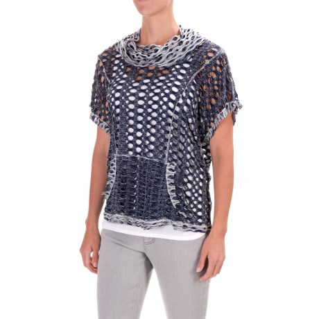 dylan Reversible Cutout Shirt - Cowl Neck, Short Sleeve (For Women)