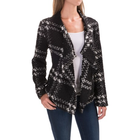 dylan Cortana Plaid Italian Yarn Jacket (For Women)