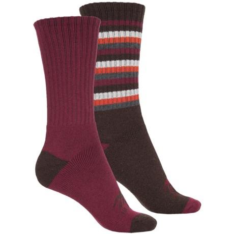 High Sierra Full-Cushion Striped Boot Socks - 2-Pack, Crew (For Women)