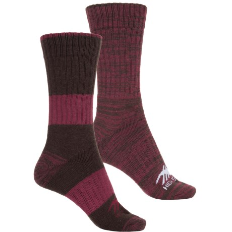 High Sierra Full-Cushion Marled Boot Socks - 2-Pack, Crew (For Women)