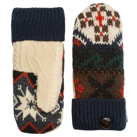 Muk Luks Winter Lodge Pot Holder Mittens - Faux-Fur Lined (For Women)