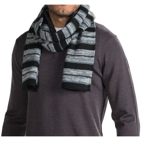 Muk Luks Striped Reversible Scarf (For Men)