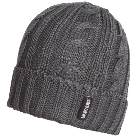Muk Luks Knit Cable Cuff Hat (For Men)