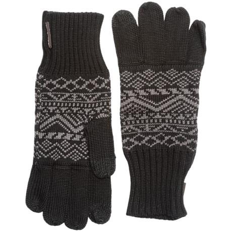 Muk Luks Pattern Gloves - Touchscreen Compatible (For Men)