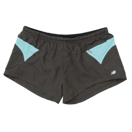 """New Balance Sleek Woven Running Shorts - 3"""" (For Women)"""