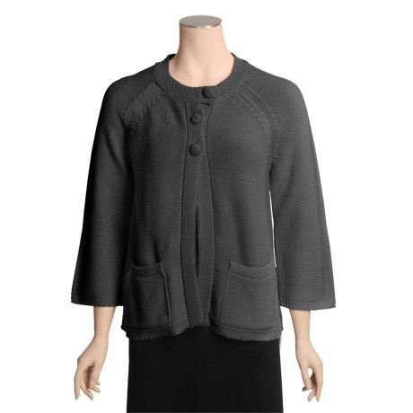 Echoes Lola Cardigan Sweater - Fly Front (For Women)