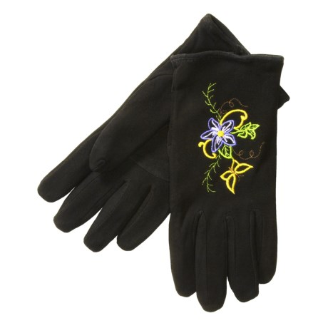 Jacob Ash Deerskin Suede Gloves - Insulated (For Women)
