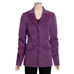 Tall Girl Dressy Velveteen Jacket (For Tall Women)