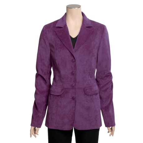 Tall Girl Dressy Velveteen Jacket (For Tall Women)