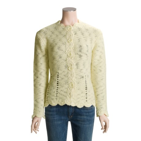 ALPS Liesel Cardigan Sweater - Wool Slub (For Women)