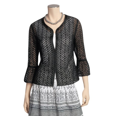Think Tank Rich Lace Jacket - 3/4 Sleeve (For Women)