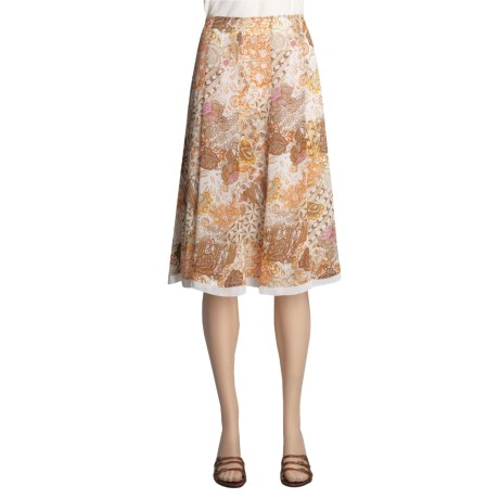 Think Tank Chiffon Print Skirt - 12-Gore (For Women)