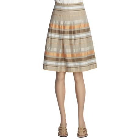 Think Tank Stripe Skirt - Cotton-Silk (For Women)